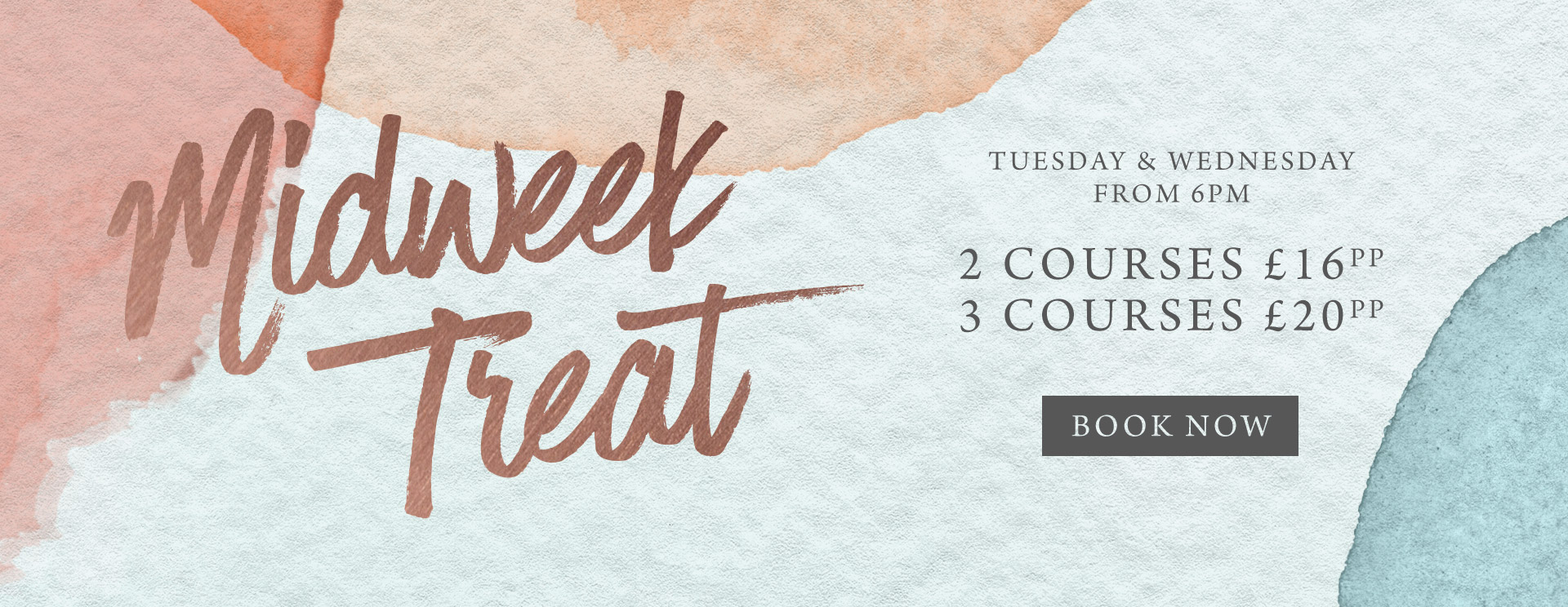 Midweek treat at The Cock Inn - Book now