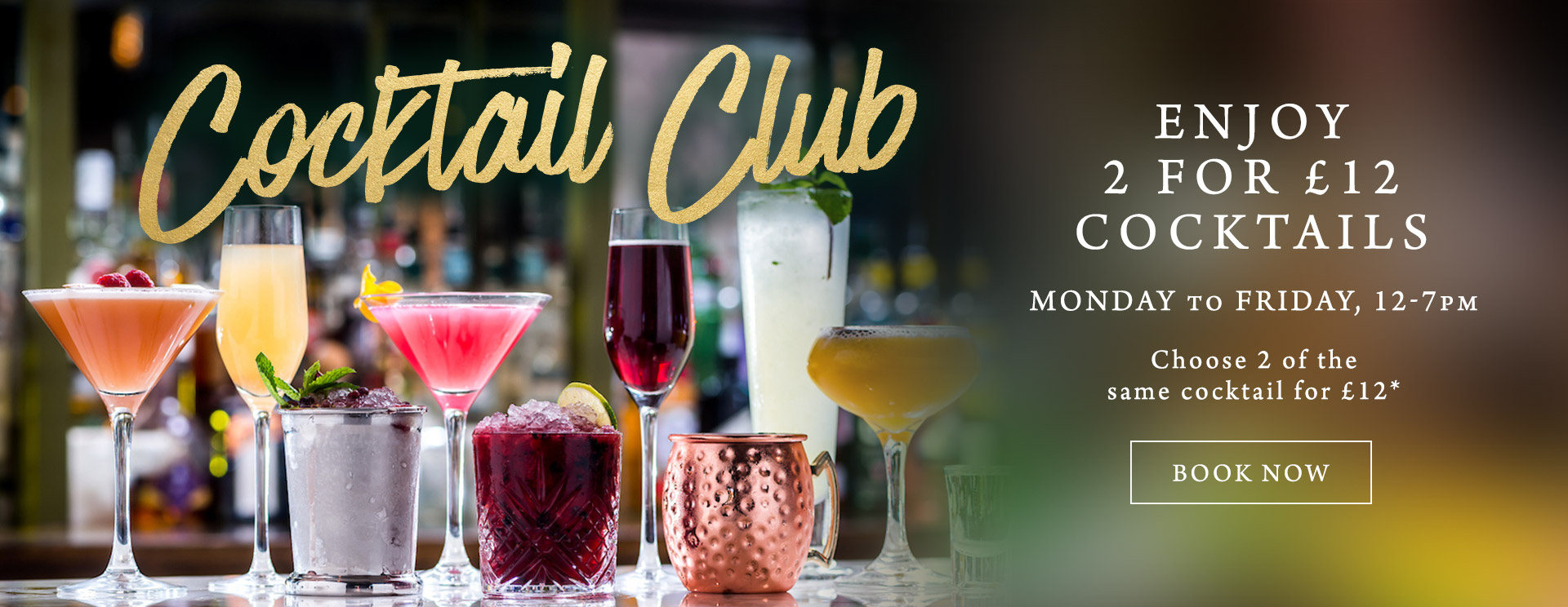 2 for £12 cocktails at The Cock Inn